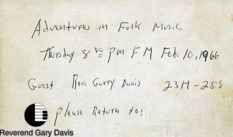 Lagu Eksklusif yang Digali oleh Legenda Blues Gary Davis